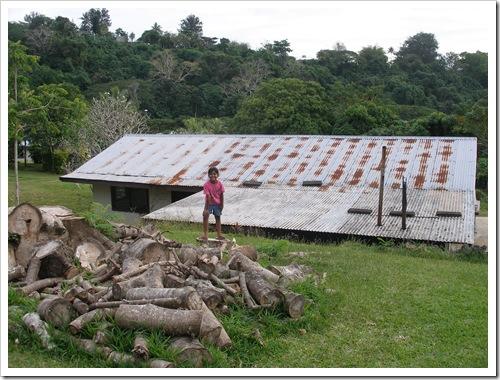 Rusty iron roof