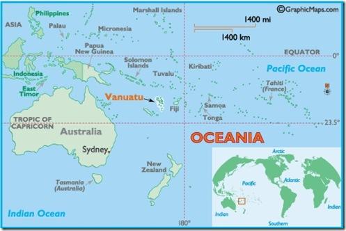 Vanuatu in Oceania