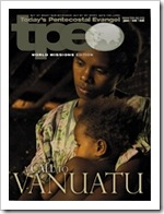Vanuatu on the cover of Today's Pentecostal Evangel, January 6, 2008