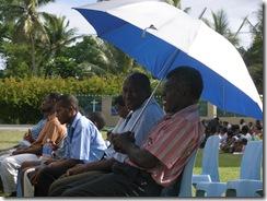 Deacons under a parasol