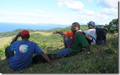 Pastors take a moment to enjoy the beauty of Tanna.