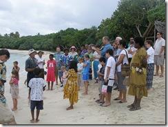 Baptismal service at Pango