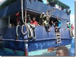 Anchoring at Pongkil Bay, Erromango