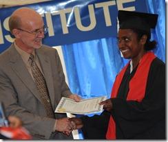Mrs. Karua Jerry graduating