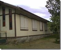 Chapel windows boarded up