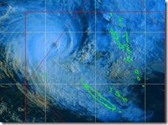 Cyclone Sandra meteo NC