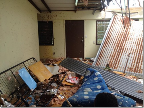 girl's dorm - cyclone Pam