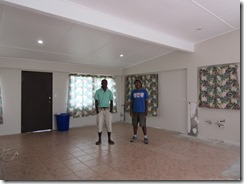 Calo & Jeffery in repaired room