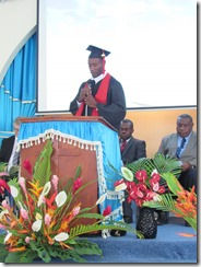 Student Speaker John Nampas